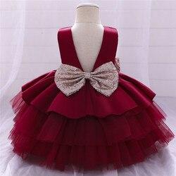 Платье принцессы с цветочным рисунком для маленьких девочек свадебное платье для маленьких девочек кружевное платье-пачка, вечерние плать...