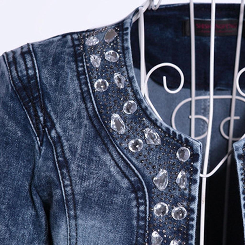 H878bd11c15fc4c17909220cb6005e3f2w JAYCOSIN Women's Coat New Fashion 2019 Denim Coat Ladies Casual Jacket Outwear Jeans Overcoat female Turn-down Collar jackets