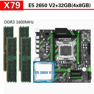 Image 1 - HUANANZHI X79 anakart Xeon E5 2650 V2 4x8GB = 32GB 1600MHz DDR3 ECC REG bellek