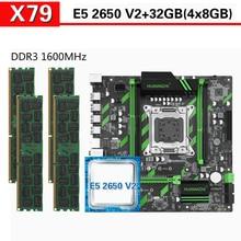 Huananzhi X79 マザーボード xeon E5 2650 V2 4 × 8 ギガバイト = 32 ギガバイト 1600 mhz DDR3 ecc reg メモリ