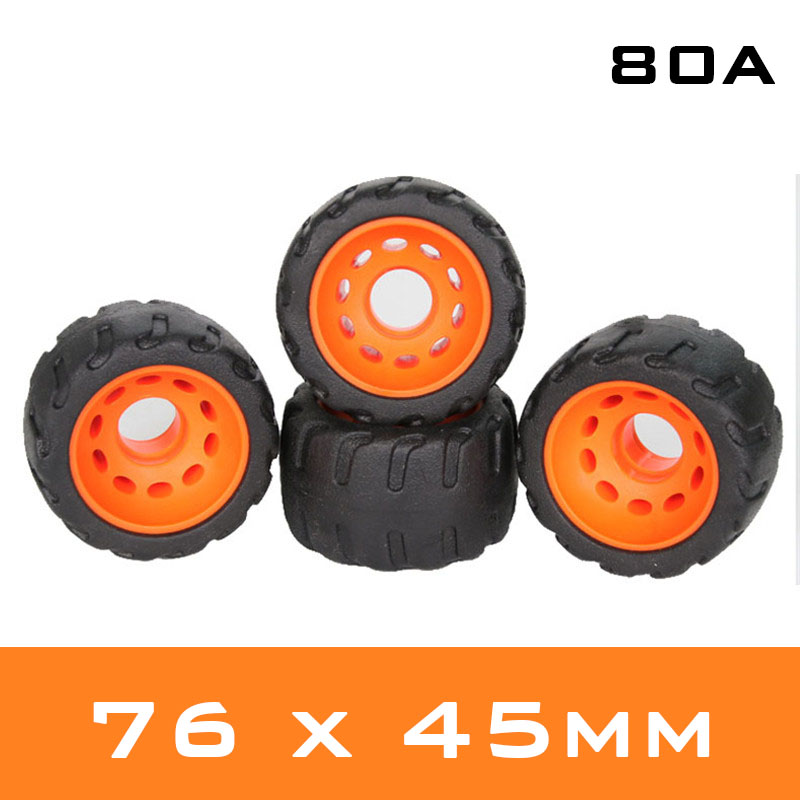 80A Low-noise Anti-vibrate Road Tyre Skate Board Wheels For Flat Plate Single Double Rocker Skate Board Durable PU 4 Pcs/lot