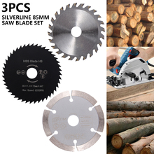 цены 3pcs 85mm Cutting Tool Saw Blades for Power Tool Circular Saw Blade for Wood HSS Saw Blade Cutter Circular Mini Saw Blade