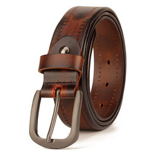 Men's Leather Prong Belt New Leather Belts for Men Men's cow