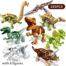 Mundo Jurásico de animales de dinosaurio en miniatura de bloques de construcción, conjunto de Pterosaurio Triceratops, figuras de acción de bloques, regalos de Navidad para niños
