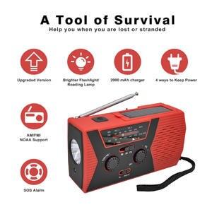 Am/fm/noaa Accessaries-Products Hand-Crank Power-Bank Solar Broasting Emergency-Radio