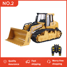 Super RC Truck Bulldozer Dumper Caterpillar Tractor Engineering Model Lighting Car Tractor Excavator Music Lighting Toys cheap Metal Plastic CN(Origin) 3 AA batteries (not included) Remote control about 30m MODE1 MODE2 Brush Motor 30day 6822L 6838L