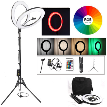 18 Inch 65W Mamen 5500K LED Selfie Ring Light Studio Photography Photo Fill Ring Light With Tripod For Wedding Makeup Youtube