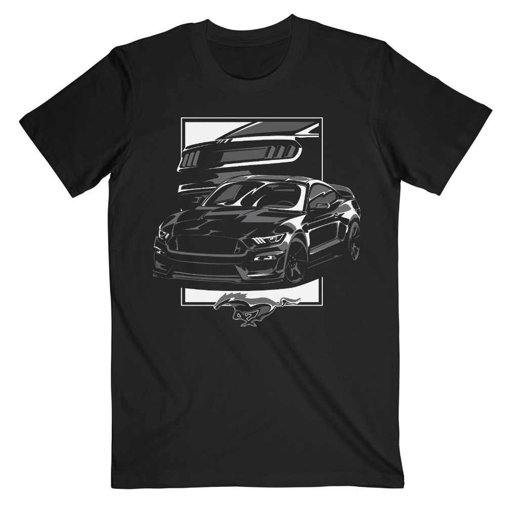 2020 Hot Sale 100% cotton Classic American car fans Mustang S550 V8 GT 500 Shelby Supercharged USA America Tee Shirt 9905L