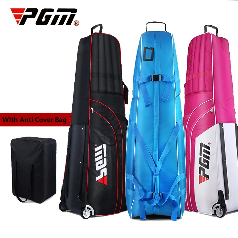 PGM Golf Thickened Aviation Bag Foldable Waterproof Travel Plane Bags Aircraft Pad Golf Cover Bag With Wheels 3 Colors