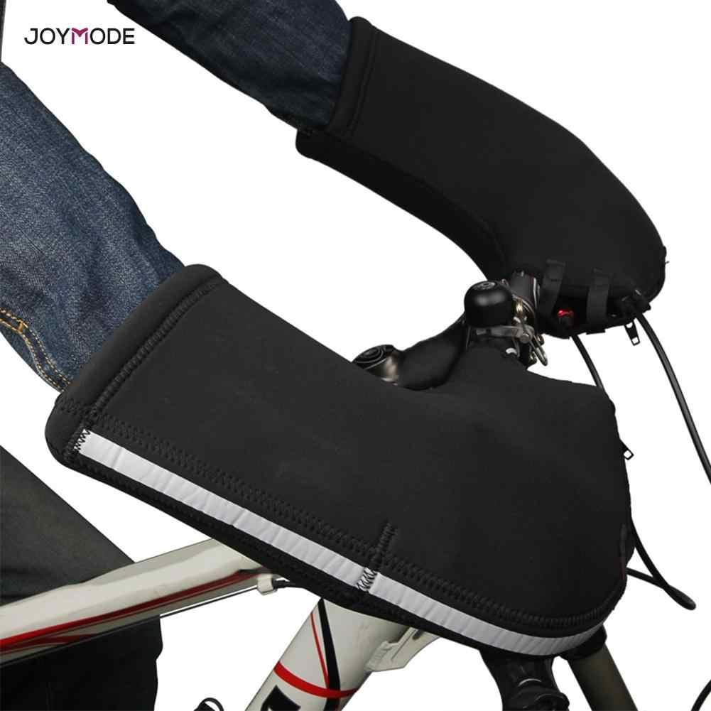 JOYMODE kış bisiklet Bar eldiven rüzgar geçirmez sıcak tutmak yol bisiklet gidon eldiveni bisiklet MTB dağ bisikleti eldiven Mitt