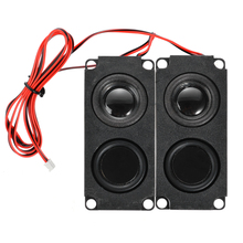 лучшая цена 1Pair Subwoofer Speaker Unit 5W 8Ohm DIY Audio Speaker Sound Box Loudspeaker Stereo Subwoofer Speakers for LCD TV Speaker