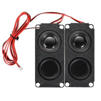 цена на 1Pair Subwoofer Speaker Unit 5W 8Ohm DIY Audio Speaker Sound Box Loudspeaker Stereo Subwoofer Speakers for LCD TV Speaker