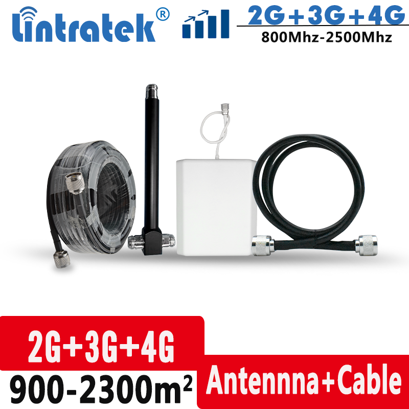 Internal Antenna Set Contains 2-ways Splitter For 2G 3G 4G Signal Booster Kit Coverage 900-2300 Square Meter Without Barrier