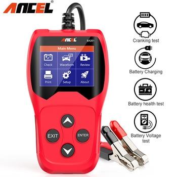 ANCEL BA201 Car Battery Tester 12V Analyzer 220Ah 2000CCA Voltage Loading Quick Cranking Charging Auto Diagnostic Tool