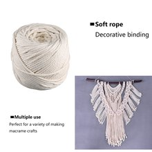 4Mm*100M Cotton Rope Binding Rope Diy Handmade Tapestry Braided Rope Beam Drawstring Natural Strength
