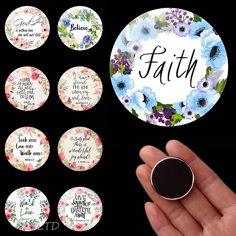 Bible Verse Faith Fridge Magnet DIY Notes Fridge Sticker Gifts for Christian Bibles Refrigerator Magnets Scripture Quotes Decor image