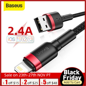 Baseus 2.4A Fast Charging Cable for iPhone 11 Pro Max Xs X USB Cable for iPhone 7 8 Plus Charger Cable USB Data Cord