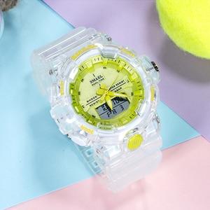 Image 5 - SMAEL reloj deportivo de cuarzo para mujer, resistente al agua hasta 50M, jalea de dama, 8025
