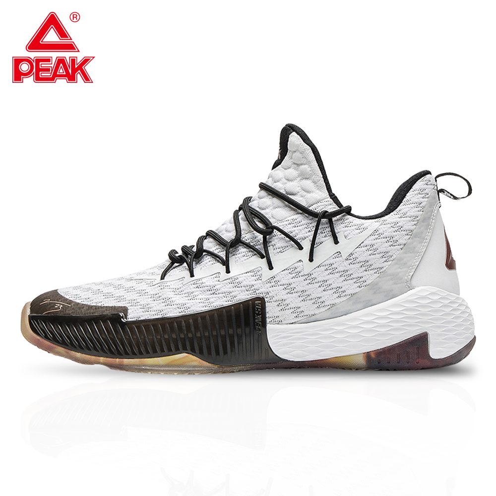 PEAK Men's Lou Williams Professional Basketball Shoes Cushioning Breathable PEAK Sports Shoes Outdoor Gym Training Sneakers