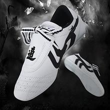 Soft PU Leather Breathable Taekwondo Shoes Taichi Wushu Kung Fu Karate Boxing Adults Children Judo Training Sports