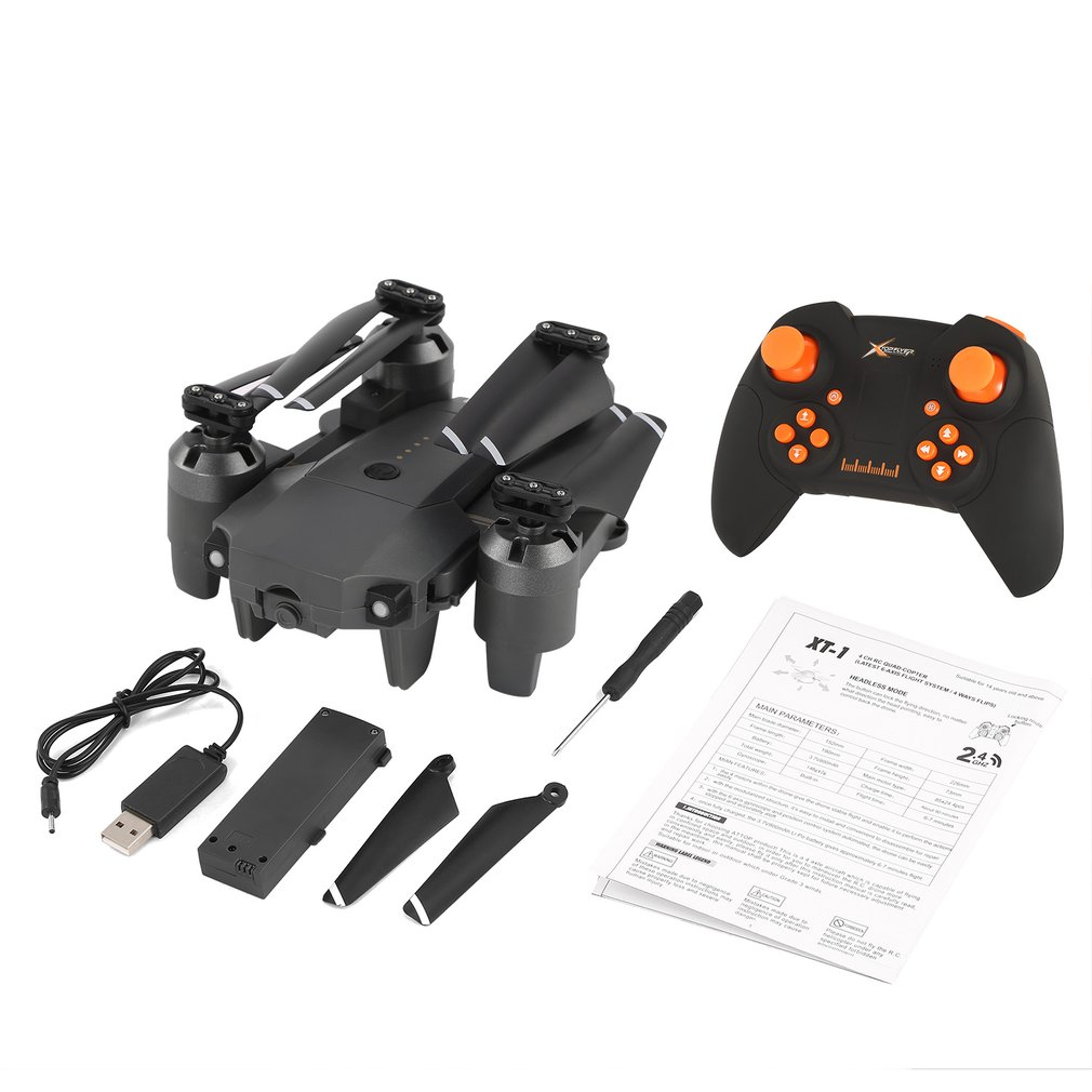 Attop XT-1 RC Drone Quadcopter 2.4G Altitude Hold Mode Foldable Headless 3D Flip Roll One Key Takeoff/Landing Speed Switch Toys