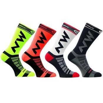 2019 novo estilo de moda quente esporte ciclismo meias retalhos das mulheres dos homens respirável esportes basquete caminhadas bicicleta meias listra # nd 1