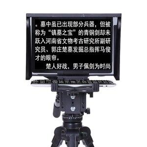 Image 3 - Телеprompter 10 10 дюймовый для iPad планшета, для наружного интервью, речи, DSLR камеры, Prompter Reader