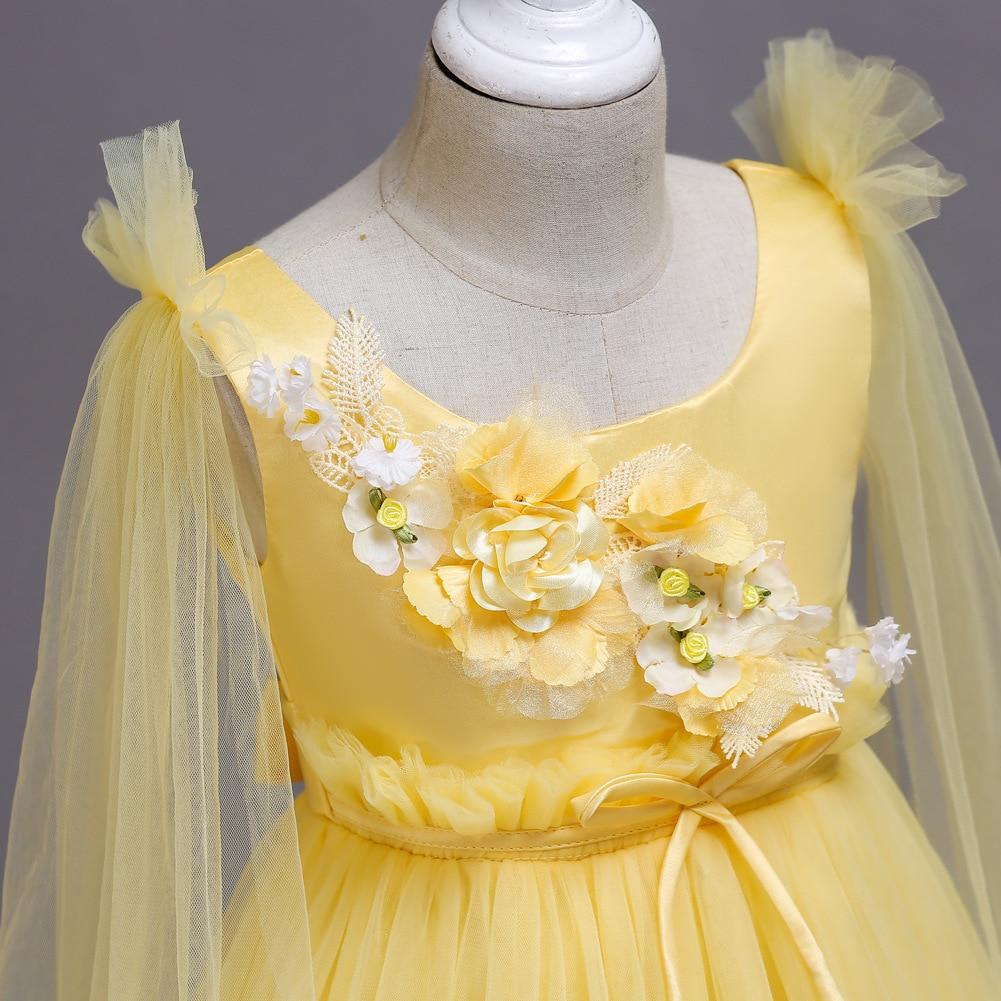 Kids Dress New Products Childrenswear Dresses Of Bride Fellow Kids Princess Dress Children Catwalks Wedding Dress Formal Dress