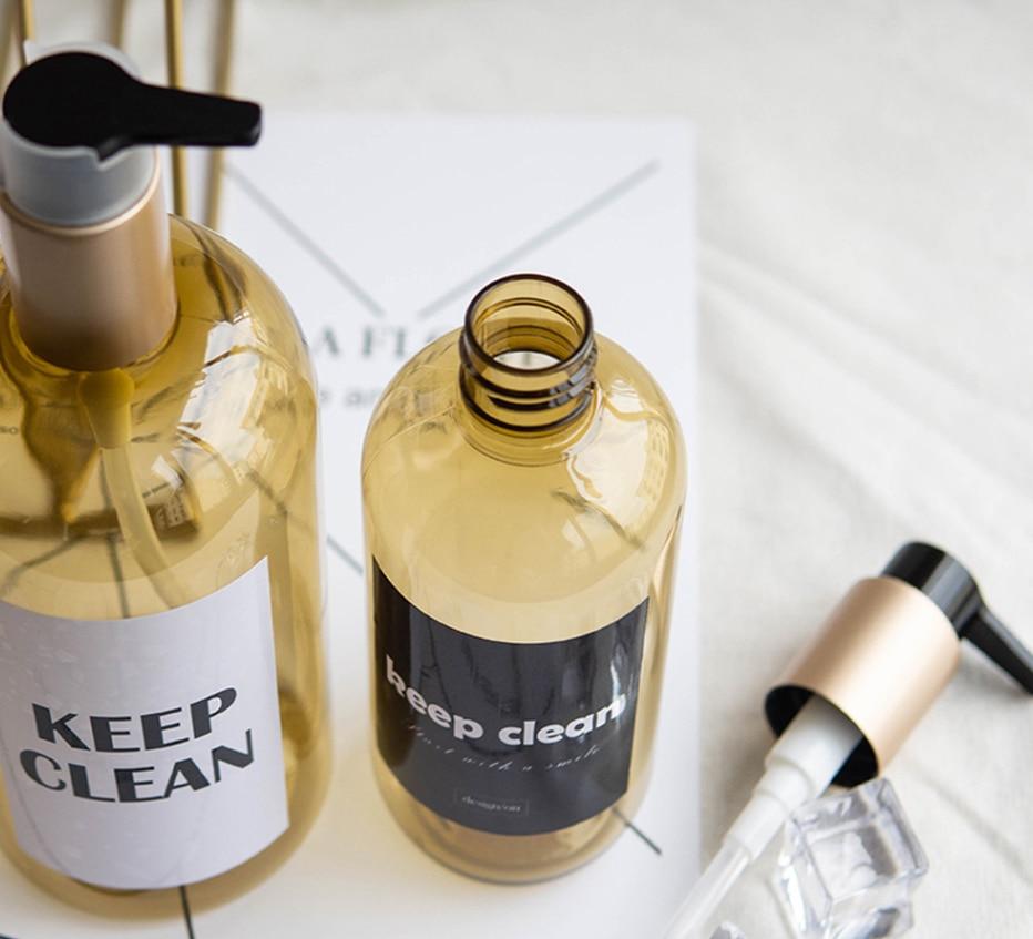 H878da1a014b34f40a6daff630cfa9c7f9 Soap Dispenser Bottle Kitchen Hand Sanitizer Bottle Cosmetics Shampoo Body Wash Lotion Bottle Outdoor Travel Tools
