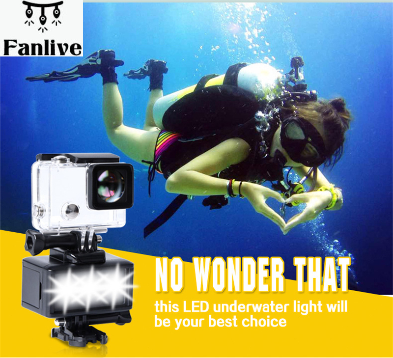10pcs Dimmable Underwater LED Video Light With Built-in Battery Action Sports Camcorder Video Light Waterproof  For Camera