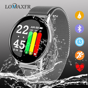 Image 1 - Reloj inteligente W8 para Android, reloj inteligente deportivo resistente al agua, con control del ritmo cardíaco y de la presión sanguínea de hombre y mujer