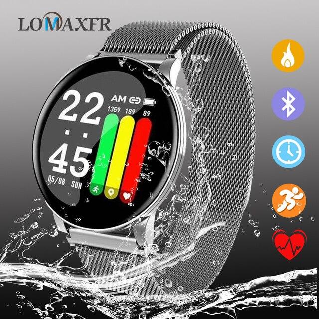 Reloj inteligente W8 para Android, reloj inteligente deportivo resistente al agua, con control del ritmo cardíaco y de la presión sanguínea de hombre y mujer