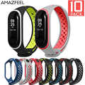 10Pcs/Pack Wrist strap For Mi band 4 Strap Silicone Bracelet dual color Wrist Strap For Mi Band 4/ 3 Miband 4 Accessories