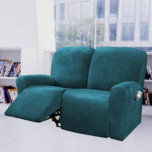 Velvet Plush 2 Seater Recliner Cover All-Inclusive Relax Sofa Slipcover Recliner Chair Cover Elastic Couch Loungers Cover
