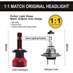 Image 4 - מנורת H1 H7 Led Canbus פנס 100W 10000LM 4 צד 360 תואר HB3 HB4 רכב LED הנורה H4 H3 h11 9005 9006 9007 880 H27 אורות 12V