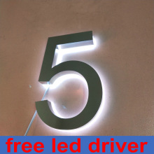 custom led light letters outdoor backlit light house numbers 3d illuminated letters sign