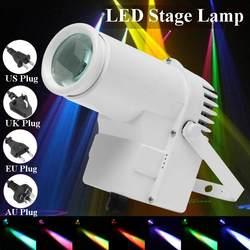 30W RGBW LED Lighting Stage Pinspot Beam Lampu Sorot Profesional DJ Disko Partai KTV Lampu Latar Lampu Panggung 360 Derajat pencahayaan