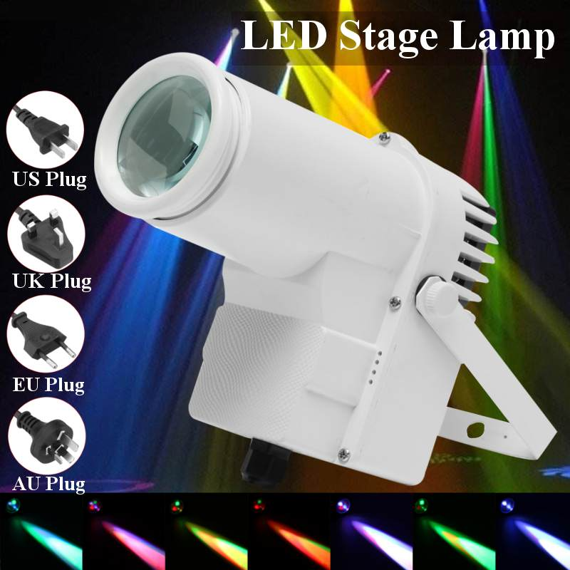 30W RGBW LED Stage Lighting Pinspot Beam Spotlight Professional DJ DISCO Party KTV Backlight Stage Light 360-degree Lighting
