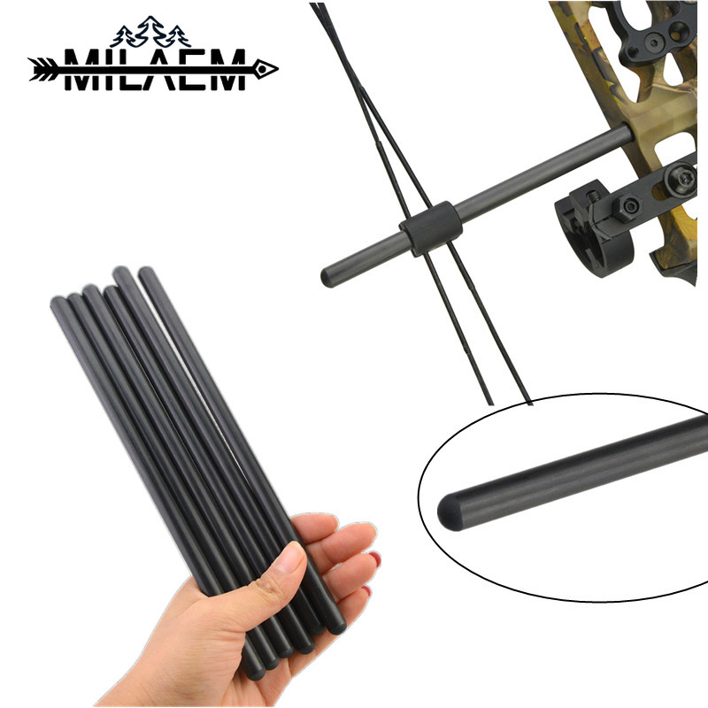 Archery BowString Suppressor Rod Carbon Compound Bow Stabilizer String Stop Rod