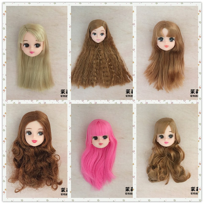 Soft Plastic High Quality DIY Doll Heads For Licca Doll Head For Jenny 1/6 BJD Girl Doll's DIY 1:6 Dolls Accessories Kids Toy
