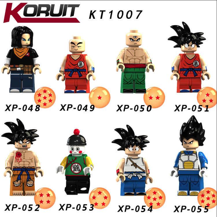 Dragon Ball Z hijo de Goku Majin Buu futuro troncos Vegeta LegoINGlys bloque de los niños de dibujos animados de los niños regalos de juguetes de peluche