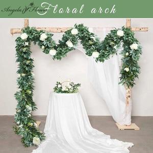 Image 1 - 1.8m מלאכותי פרח שורה רץ ירוק צמחי אקליפטוס עלים קש graland בית גן מסיבת חג המולד חתונה שולחן דקור