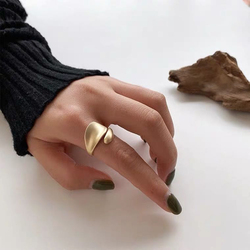 Simple Open Rings For Women Gold Color 2020 Fashion Korean Street Girl Wedding Rings Adjustable Knuckle Finger Jewelry Jewelry