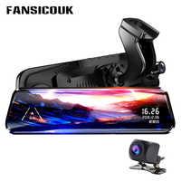 FANSICOUK 10 ''Streaming rétroviseur caméra 1080P Dash Cam double lentille Auto caméra Vision nocturne registraire voiture DVR H50