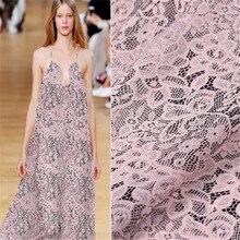 Цифровая печать чистый Шелковый жоржет фарбик с кружевом стиль для элегантной женской одежды