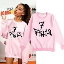 Ariana Grande 7 Rings Same Style Sweatshirt Ladies Long Slee