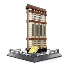 Wange-bloques de construcción de Nueva York Flatiron para niños, juguete de ladrillos para armar Casa, Serie de arquitectura famosa, 4220