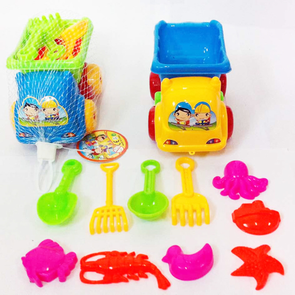 Mini Beach Toys For Water Baby's Tweezers Bucket Shovel Beach Summer Play Toys Children's Dredging Tools 11pcs/sets