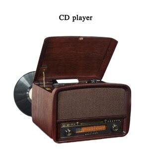 Ретро-фонограф 33/45/78, переключатель скорости, виниловая запись, беспроводной bluetooth 4,0, CD, электромеханический проигрыватель записи