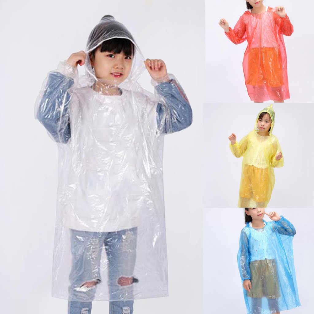 Crianças descartáveis adulto emergência impermeável chuva casaco caminhadas acampamento capa casa produtos de proteção à prova de poeira e limpo novo